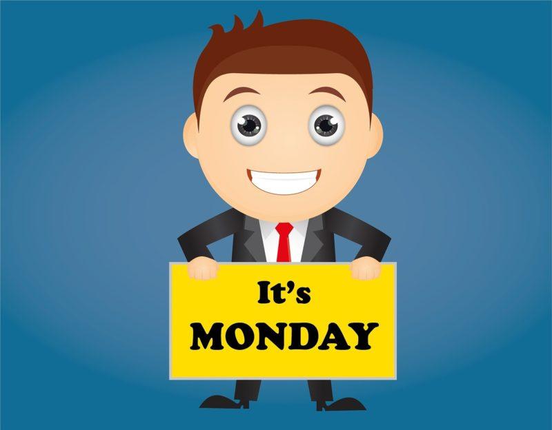 Freude auf den Montag (Schild)