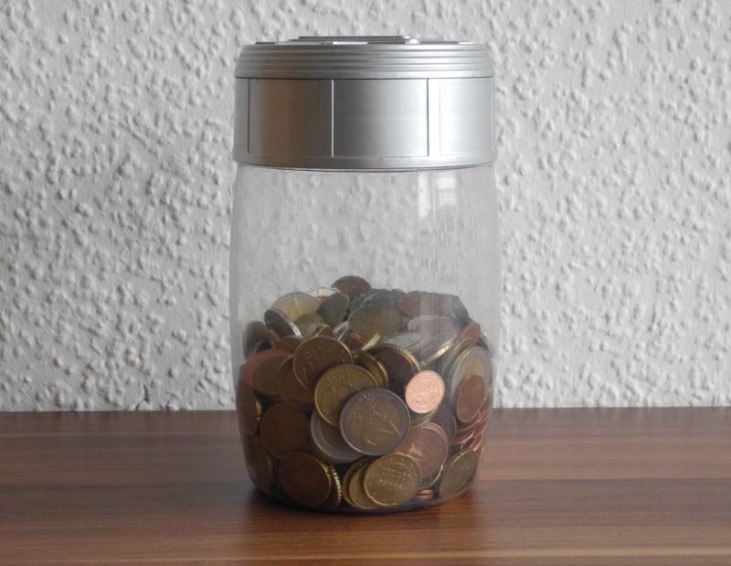 Kleingeld Spardose