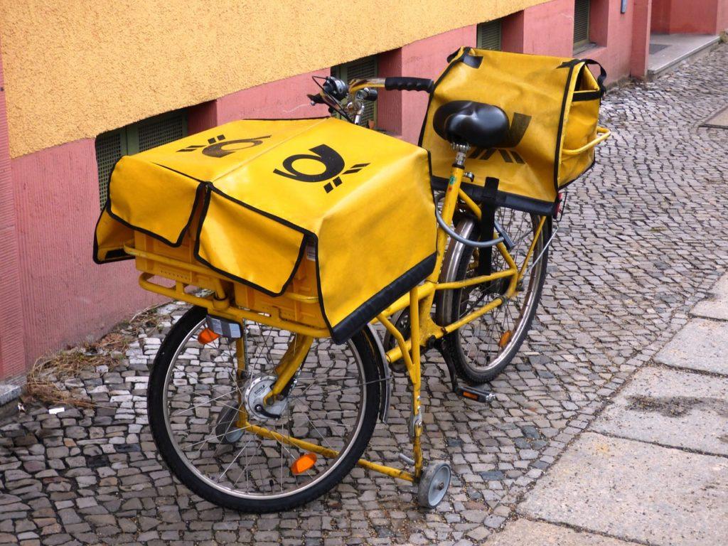 Briefträger Fahrrad